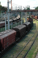 Industry trains at railroad station