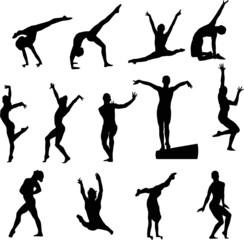 Sport silhouette - Gymnast