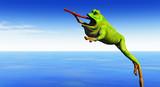 žába skáče