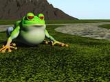 frog cartoon poster