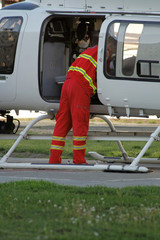 rescuer in helicopter