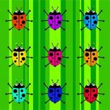 funky ladybug background poster