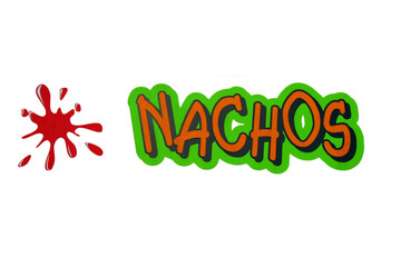 isolated Nachos Sign