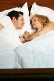 sleeping young couple poster