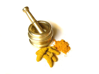 Turmeric with Brass Mortar 1