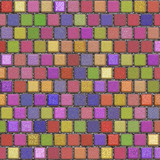 Colorful clay tiles poster
