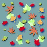 autumn leaf scrapbook poster