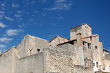 Buildings in Arles, southern France poster