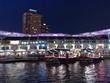 Leinwanddruck Bild - Clark Quay - Singapore - Night Scene