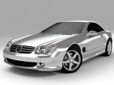 Fototapety silvery sports car