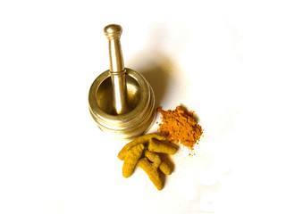 Turmeric with Brass Mortar 3