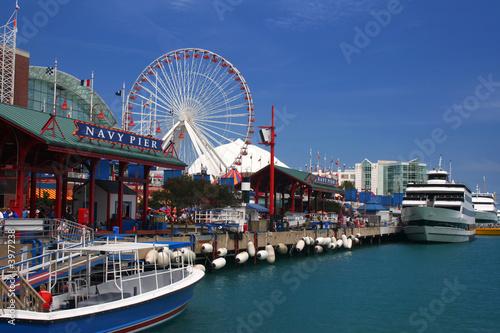 Fotobehang Kust Navy Pier, Chicago