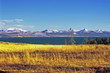 yellowstone lake in automn