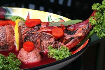 gefilte fish platter