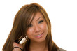 Asian Woman Straightening Hair