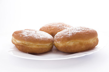 doughnuts with confectioners' sugar