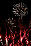 Fireworks, red flares poster