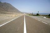 desert road in the red sea region, sinai, egypt poster