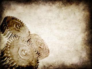altes pergament mit zahnrädern