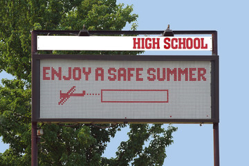 High School sign