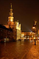 poznan night town old