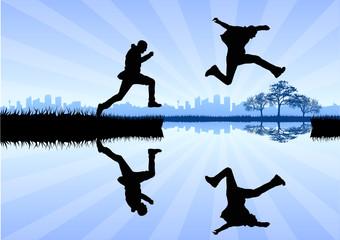 Jump on Lake
