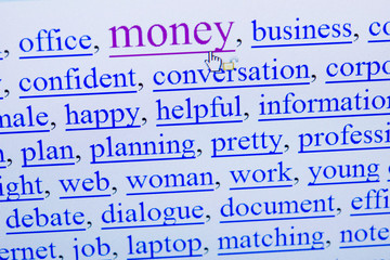 internet keywords screen - money