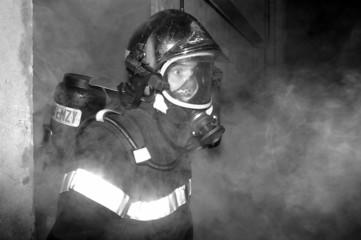 pompiers fumees
