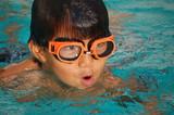 Orange Swim Goggles poster