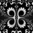 Black & White Floral Scrolls background