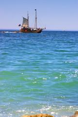 Tourist ship at Portimão bay
