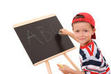 blackboard and child poster