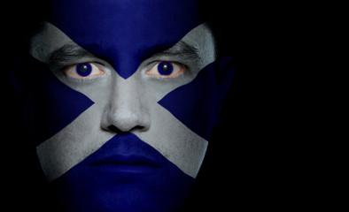Scottish Flag - Male Face