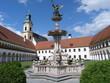 brunnen im kloster reichersberg in oberösterreich