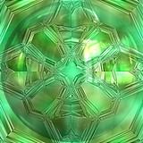 Closeup of pure green emerald poster