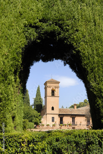 Castle in the Alhambra of Granada Spain