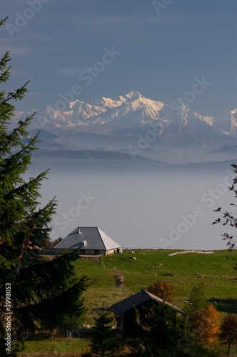 Mont Blanc vu du Jura