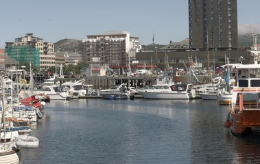 Norwegian harbour.