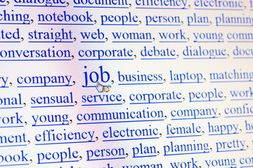 internet keywords screen - job