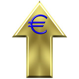 Euro Currency Increasing Value Concept poster