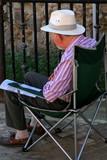 elderly gentleman sitting poster