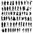 silhouettes / vecteur