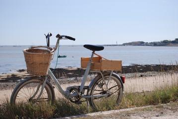 vélo devant la mer