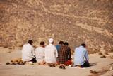 Muslims praying poster