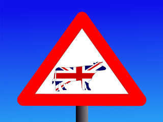 warning british beef sign