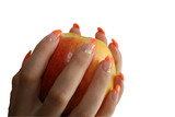 Manicure on an apple poster
