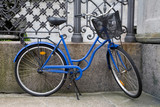 Blue Bicycle in Denmark poster