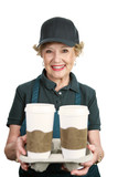 Senior Worker - Coffee Server poster