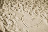 Coeur sur le sable - Fine Art prints