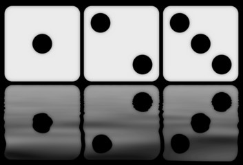 dices numbers reflection
